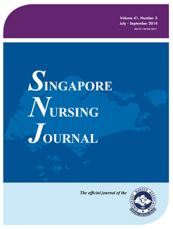 Singapore Nursing Journal – Singapore Nurses Association